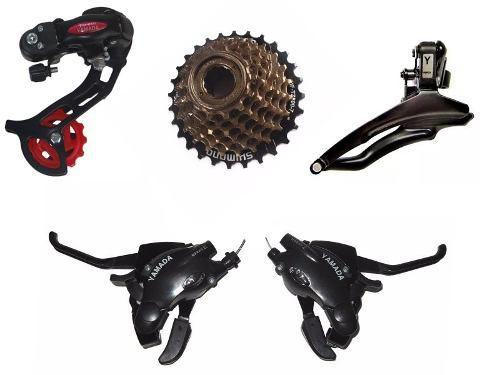 Imagem de Kit Relação Catraca Shimano Passador Câmbios Yamada 21v Bike