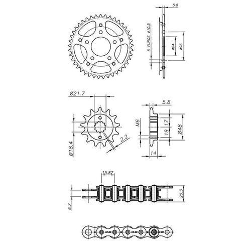 Imagem de Kit Relação Transmissão Com Retentor Honda CB 300 2009 A 2015 Vaz Xtreme H03971X