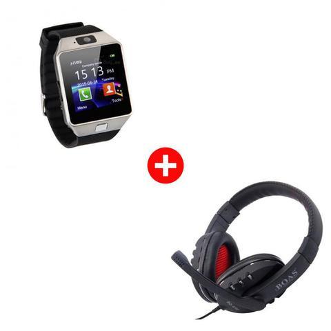 Imagem de Kit Relógio Bluetooth Smartwatch DZ09 + Fone De Ouvido Gaming USB BQ-9700 Mega Premium