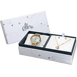 Kit Relógio Feminino Allora Analógico Social AL2035FK 4D - Relógio ... ecfdaf09a4