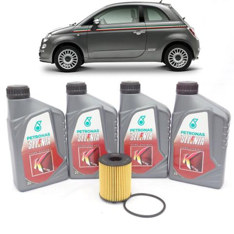 Imagem de Kit revisão Fiat troca de óleo Selenia K 5W30 e filtro - Fiat Cinquecento 1.4 16V de 2012 até 2014