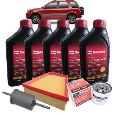 Imagem de Kit revisão Ford troca de óleo Motorcraft 5W30 e filtros - Ecosport 2.0 2006-2008 - Italia Ricambi