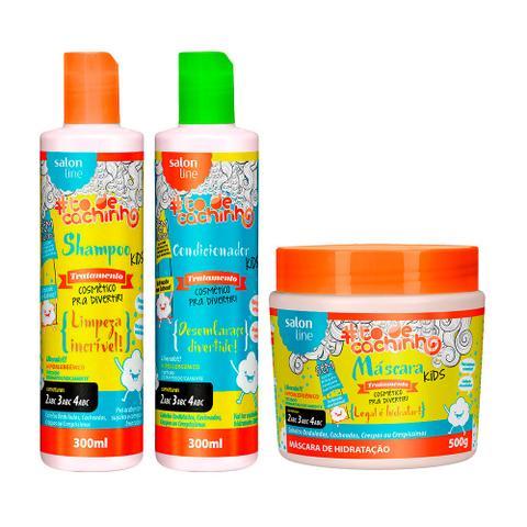 Imagem de Kit Shampoo Condicionador e Máscara Legal é Hidratar Kids TodeCachinho - Salon Line