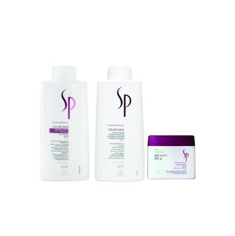 Imagem de Kit Shampoo Condicionador e Máscara Wella SP Color Save