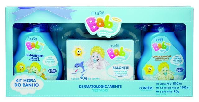 Imagem de Kit Shampoo+ Condicionador+Sabonete Baby Menino- Nova Muriel