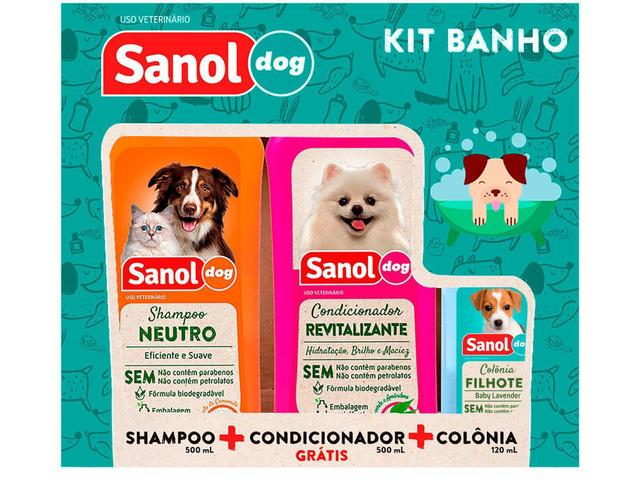 Imagem de Kit Shampoo e Condicionador Colônia - Cachorro e Gato Neutro Sanol Dog