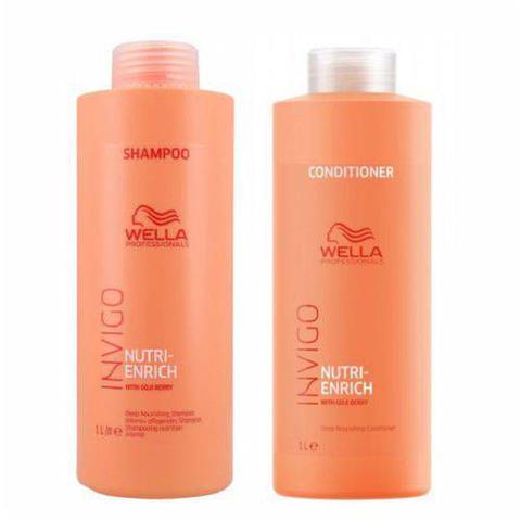 Imagem de Kit Shampoo E Condicionador Wella Nutri Enrich Invigo