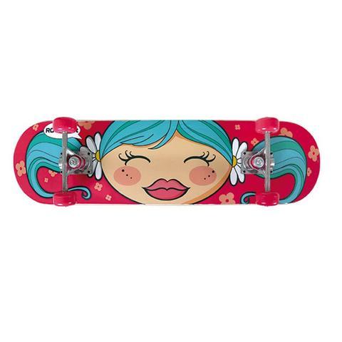 Imagem de Kit Skate Row Infantil Menina com Acessórios - 79x20 - MOR