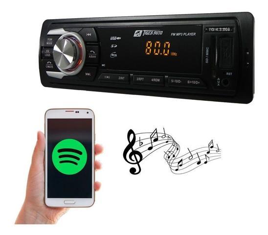 Imagem de Kit Som Auto Radio Mp3 Bluetooth Aux + Falante 6x9 Pol Orion