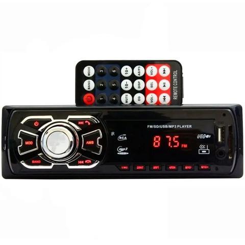 Imagem de Kit Som Carro Rádio Mp3 Bluetooth Usb + Auto Falante 6 + 6x9