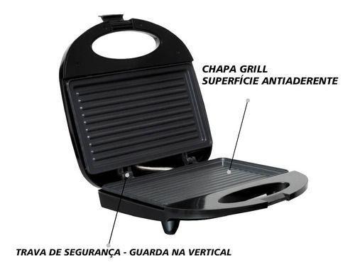 Imagem de Kit Super Mãe Amvox Sanduicheira Black + Air Fryer 3,5l 220v