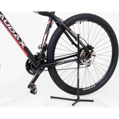 Imagem de Kit Suporte Pé de Galinha para 1 Bicicleta AL-51 Altmayer + Cadeado PRO com Segredo 1m Vermelha
