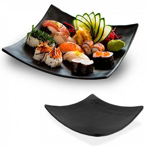 Imagem de Kit Sushi 8 Pecas com Pratos Molheiras e Travessas Melamina / Plastico  Utilgoods