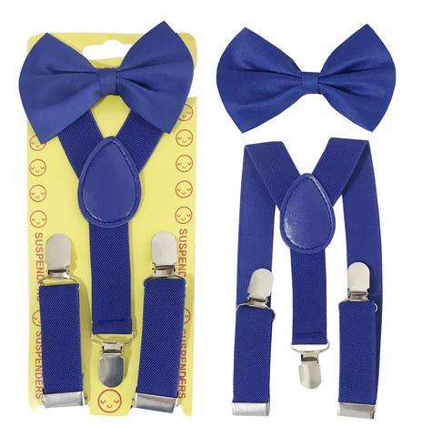 Imagem de Kit Suspensório e Gravata Borboleta Infantil Azul