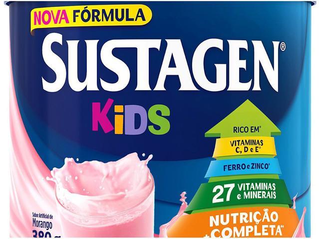 Imagem de Kit Sustagen Kids Morango 380g