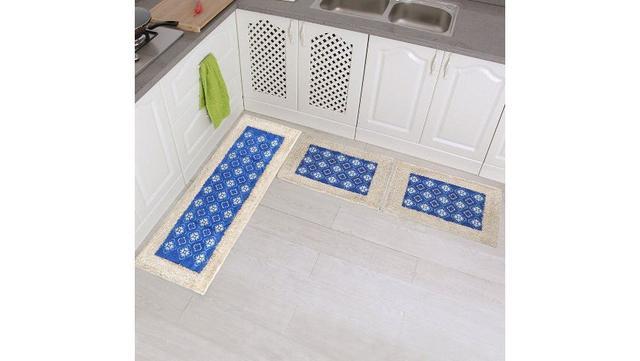 Imagem de Kit Tapete de Cozinha Algodão Cru 3 Peças  Ornare