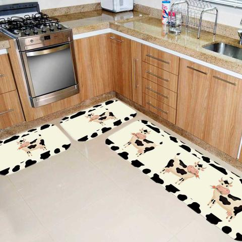 Imagem de Kit Tapete de Cozinha Cow