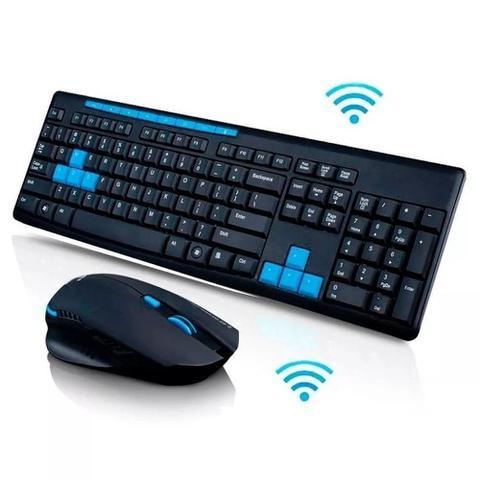 Imagem de Kit Teclado E Mouse Gamer Sem Fio 1600dpi Wireless 10 Mts