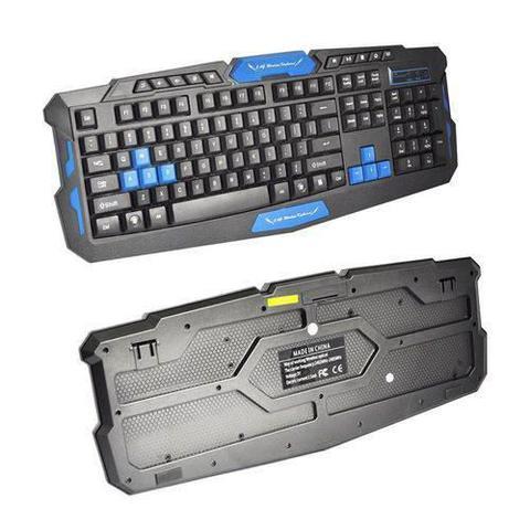 Imagem de Kit Teclado E Mouse Gamer Sem Fio Wireless 2.4ghz 3200dpi - HK8100