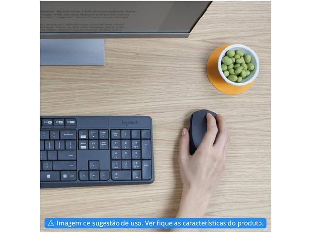 Imagem de Kit Teclado e Mouse Sem Fio Logitech MK235