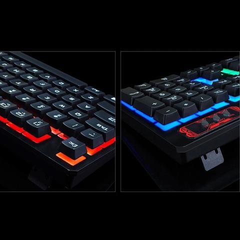 Imagem de Kit Teclado Gamer Semi Mecânico Mouse Led Luminoso Mouse Pad