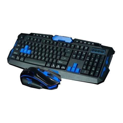 Imagem de Kit Teclado Mouse Gamer Sem Fio Wireless 1600 Dpi Jogos Bmax