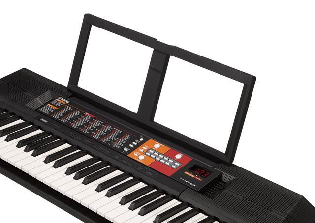 Imagem de Kit Teclado Musical Arranjador PSR F51 Yamaha com Fonte BiVolt + Suporte teclado X + Bolsa protetora