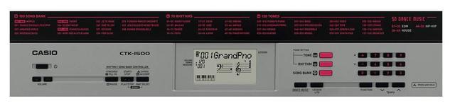 Imagem de Kit Teclado Musical CTK-1500 Casio + Fonte + Bolsa+ Suporte
