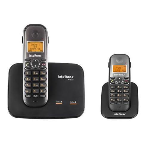 Imagem de Kit Telefone 2 Linhas Ts 5150 + 1 Ramal  Ts 5121 Intelbras