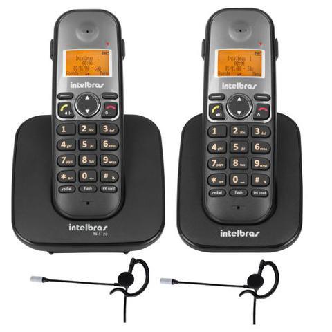 Imagem de Kit Telefone Sem fio TS 5120 + 1 Ramal TS 5121 + 2 Fone HC 10 Intelbras