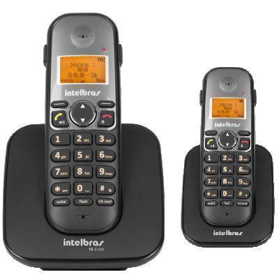 Imagem de Kit Telefone Sem Fio TS 5120 + 1 Ramal TS 5121 Intelbras