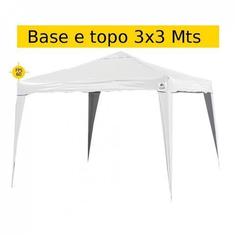 Imagem de Kit Tenda Gazebo 3x3 Mts Base e Topo + 4 Paredes Laterais Branca  Bel
