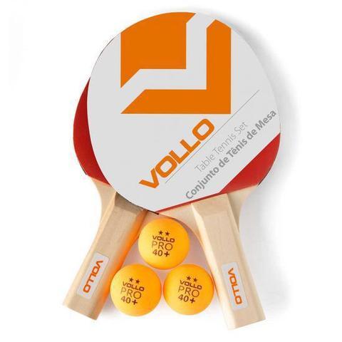 Imagem de Kit Tênis de mesa Vollo 2 raquetes 3 bolas Iniciante
