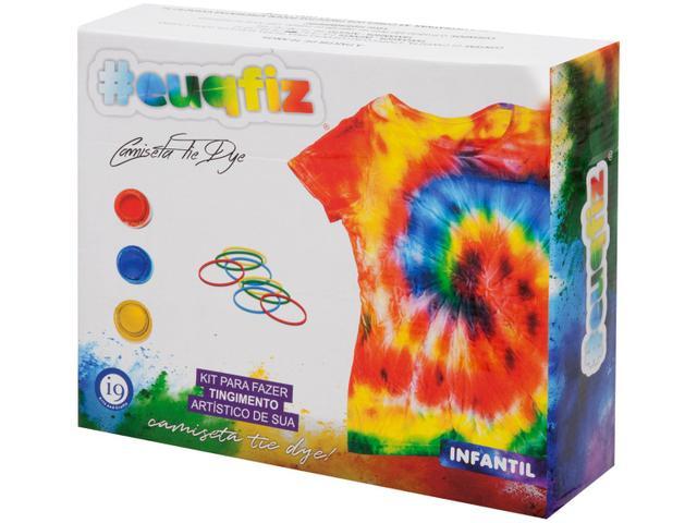 Imagem de Kit Tie Dye com Camiseta Infantil euquefiz