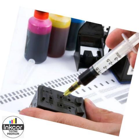 Imagem de Kit Tinta Recarga De Cartuchos Compatível com Impressora HP 662 664 122 60 901 74 92 21 92 Snap Fill