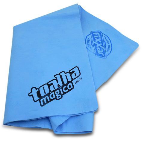 Imagem de Kit Toalha Mágica Fixxar Azul Especial Absorve Limpa e Seca Multiuso 10 Unidades