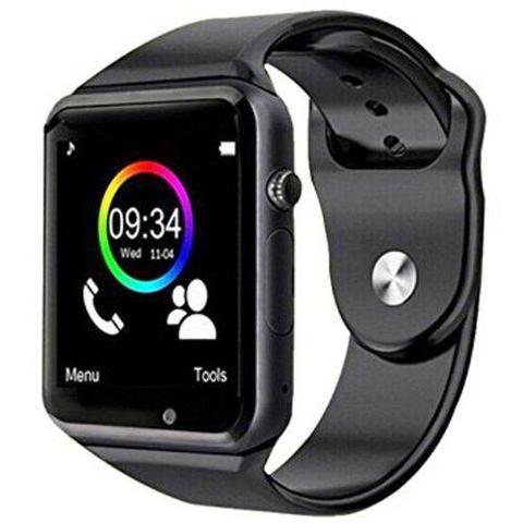 Imagem de Kit Top Relógio Inteligente A1 Smart-Android-Chip + Caixa Som Bluetooth Prova D'agua