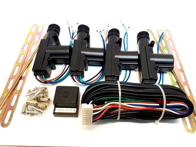 Imagem de Kit trava eletrica 4 portas universal duplo comando