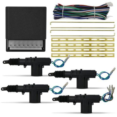Imagem de Kit Trava Elétrica 4 Portas Universal Mono Serventia Roadstar RS04BR ES