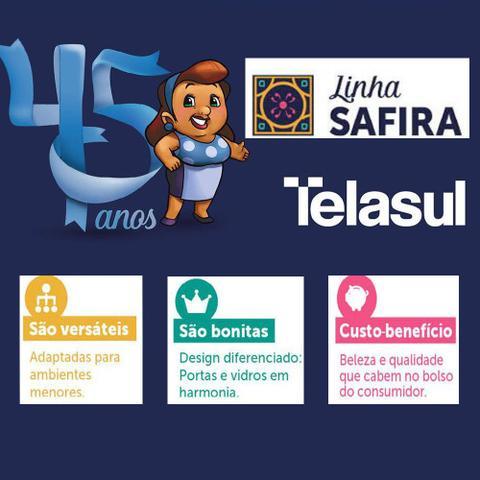 Imagem de Kit Triplo de Aço Safira 6 Portas 3 Gavetas Telasul