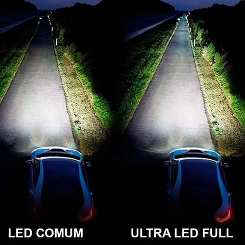 Imagem de Kit ultra led h8 8.000 lumens 6.000k 12v 24v