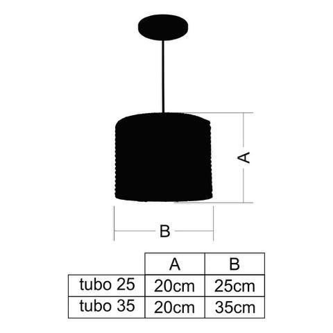Imagem de Kit Utron 6 Luminárias Pendente Junco Tubo Rústico 25cm