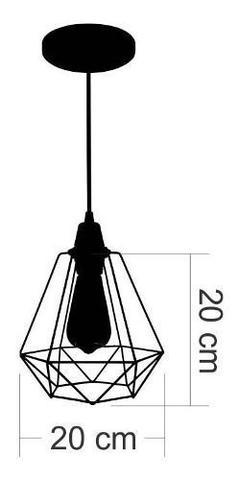 Imagem de Kit Utron 6 Lustres Luminária Pendente Aramado Class 2 Cores