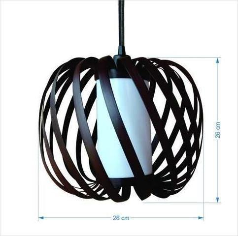 Imagem de Kit Utron 6 Lustres Luminária Pendente Copo Junco Apple 26cm