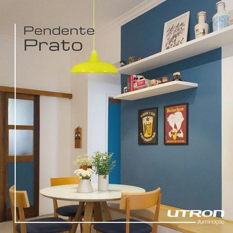 Imagem de Kit Utron 6 Lustres Luminária Pendente Prato Bedd Retrô 32cm