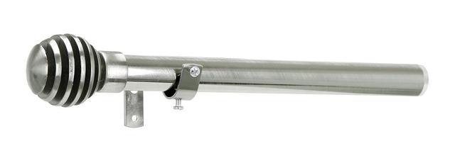 Imagem de Kit Varão Para Cortina Extensivo - 1,20 a 2,10M - Ponteira Esfera Cromada
