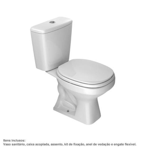 Imagem de Kit Vaso Sanitário e Caixa Acoplada Aspen 75x37,5x65cm Branco