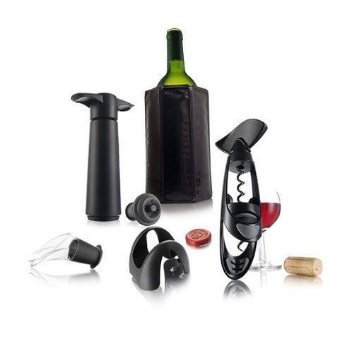 Imagem de Kit Vinho Vacu Vin 6 Pçs Bomba Saca Rolhas Dosador Cooler