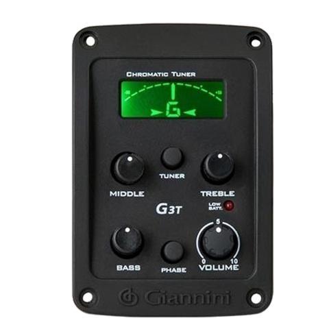 Imagem de Kit Violão Flat Eletroacústico SF14 BK Aço Giannini Completo