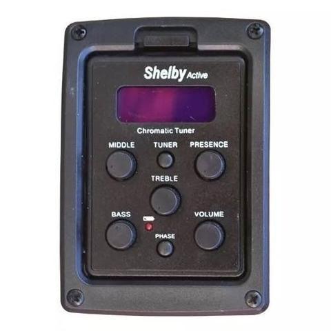 Imagem de Kit Violão Shelby Eletroacústico Eq 3 Bandas Aço Sgd195c